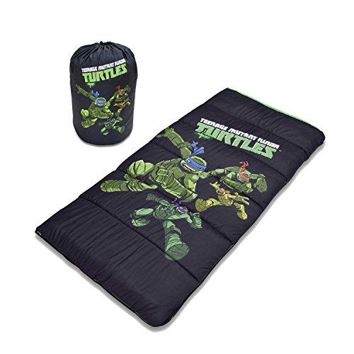 Nickelodeon Kids Teenage Mutant Ninja Turtles Sleeping Bag with Storage Bag, Black