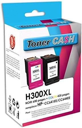 Pack de 2 cartuchos compatible HP300 X L BK + HP 300 XL CL: Amazon.es: Oficina y papelería