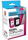 Pack de 2 Cartouches Compatible HP300XL Bk + HP 300 XL Cl