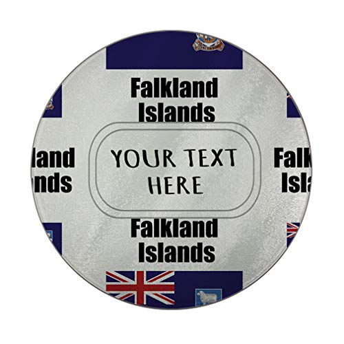 Glass Cutting Board Custom Falkland Islands Country Flag Pattern Kitchen Rectangular Chopping Trivet 12
