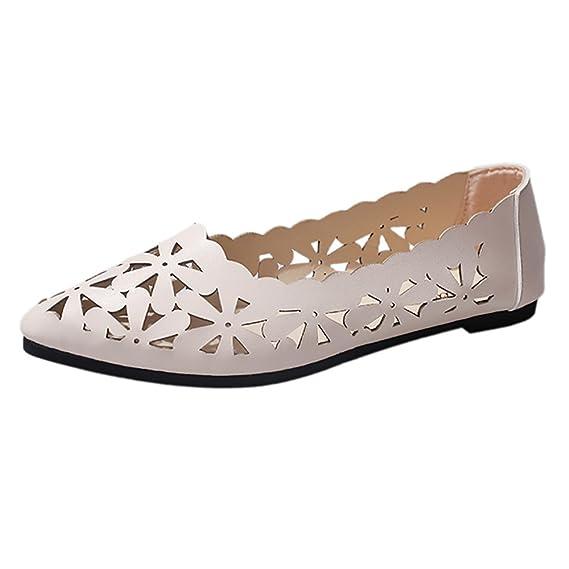 Yesmile Zapatos de mujer❤️Zapatos Mocasines de Cuero Mujeres Mocasines de Ocio Suaves Zapatos Casuales Femeninos: Amazon.es: Ropa y accesorios