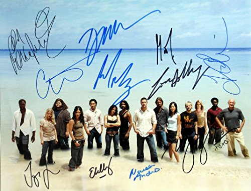 Lost Cast signed 11x14 by 11 people In Person Autographed Photo