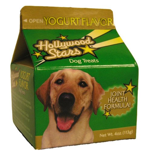 Jrb Foods Hollywood Stars Dog Treats, Yogurt Flavor, 4-Ounce (Pack of 8) ()