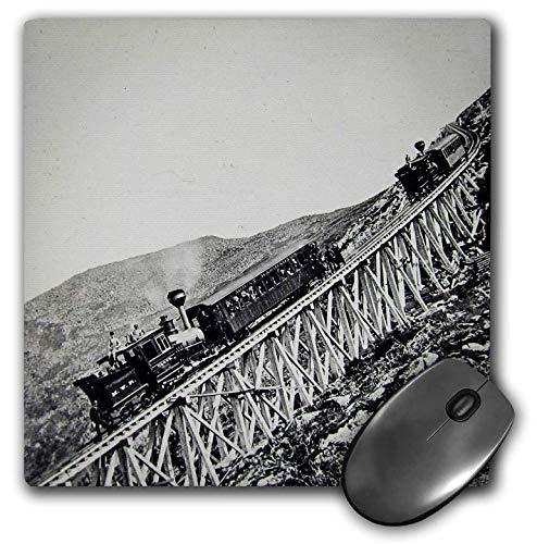 - 3dRose Scenes from The Past Magic Lantern Slide - White Mountains Mount Washington Railroad 1890 New Hampshire - Mousepad (mp_240524_1)