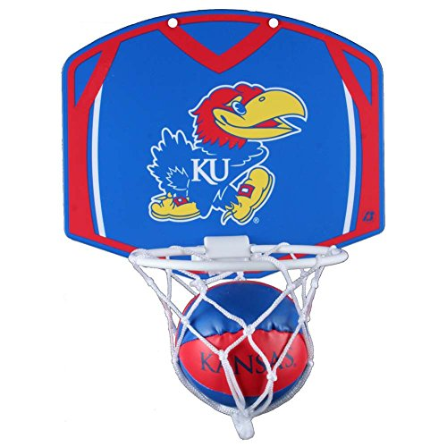 Kansas Jayhawks Mini Basketball and Hoop Set - Alt (Ku Basketball Hoop)