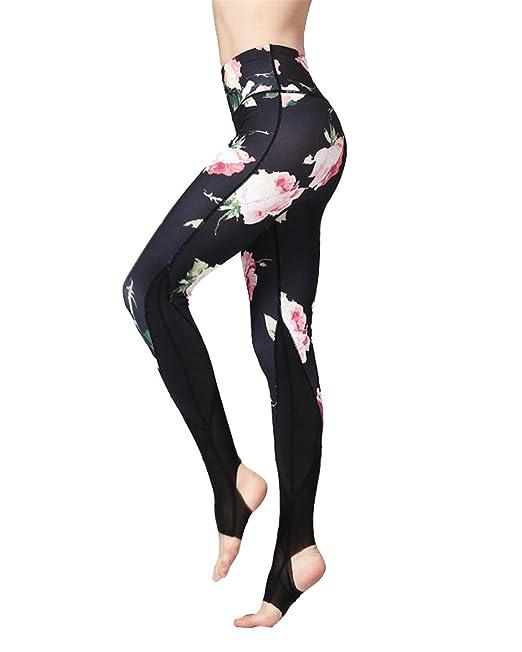 MISSMAO_FASHION2019 Mujer Pantalon de Yoga con Elastico y ...