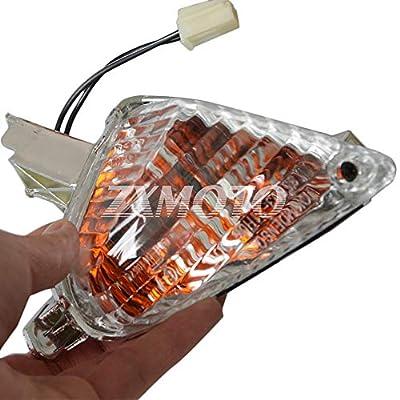 ZXMOTO ClearRear Turn Signal Indicator Light for Suzuki GSXR 600 GSXR 750 K8 (2008-2009) / GSXR1000 K7 (2007-2008): Automotive
