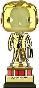 Funko Pop! TV: The Office - Customizable Chrome Dundie Award, Amazon Exclusive Collectible Vinyl Figure (52077)
