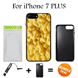 mac and cheese ipod 5 case - Innosub Custom iPhone 7 PLUS Case (Mac n cheese ) Edge-to-Edge Rubber Black Cover with Shock and Scratch Protection | Lightweight, Ultra-Slim | Includes Stylus Pen