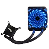 upHere Technology All-In-One High Performance Liquid CPU Cooler with Adjustable 120mm PWM Blue LED Fan