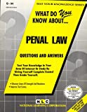 What Do You Know about Penal Law?, Rudman, Jack, 0837370949
