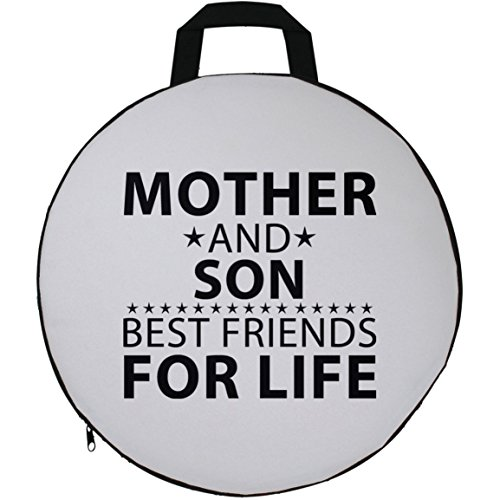 Mother Seat Cushion, Mother and Son, Best Friends For Life - Seat Cushion, Round Seat Pillow, Unique Gift Idea for Birthday, Son, Mom, Momma (Papa Son Chair)