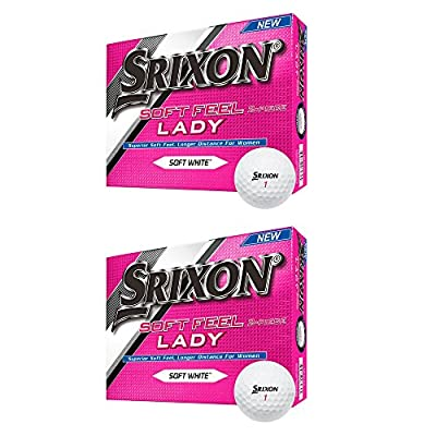 Srixon Soft Feel & Longer Distance Lady Soft White Golf Ball, 2 Dozen