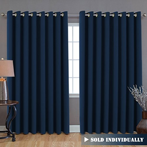 HVERSAILTEX Ultra Blackout Wider Curtains Extra Long And Wide Thermal Insulated Large Window Panels 100 W X 108 L Premium Room Divider 9 Tall By