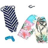 E-TING 2 Conjuntos Bikini Traje de Baño Vestir Ropa para Muñecas (Swimming Strip