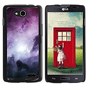 Caucho caso de Shell duro de la cubierta de accesorios de protección BY RAYDREAMMM - LG OPTIMUS L90 / D415 - Galaxy Stardust Space Purple Gas Clouds