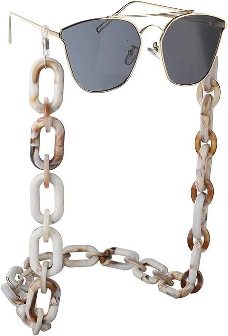 Xhtoe Brillenkette Unisex Punk Harz Acryl Kunststoff Brille Kette Anti-verlorene Einfache Retro Umweltschutz Brille Kette Anti-Rutsch Anti-Rutsch Color : Picture Color