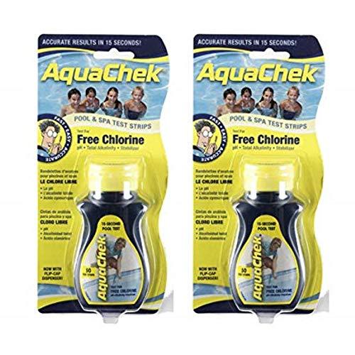 Pool Aquachek Spa - AquaChek Free Chlorine Test Strips (50 count) (2 Pack)