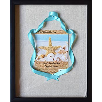 """12x15"""" Display Shadow Box Frame with Linen Background - Ready To Hang Large Shadowbox Picture Frame - Easy to Use - Box Display Frame, Baby and Sports Memorabilia, Uniforms, Military Medals, Wedding."""