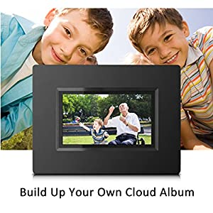 "Sungale CPF716 7"" Smart Wi-Fi Cloud Digital Photo Frame with touch screen operation built in battery free Cloud storage real-time photos Movie Social Media Browser all apps"