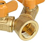 Solid Brass Y Ball Valve Comfort Grip for Oil and