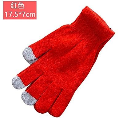 Automne Hiver Chaud Couleur Bonbon Knitting Knitting Lisse Des Héros Hommes Et Femmes Gants Touch Phone