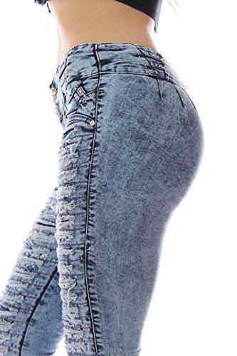 Cola elásticos Talla Levanta Azul de Color Push 48 ZARINA con Mujer XS 1057 34 Colombiano up Vaquero Pantalon Pantalones Azul XXXL qnBz0