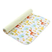 MOMLOVES - Baby Waterproof Washable Diaper Flannel Changing Mat Pad (giraffe 40 x27.5 )