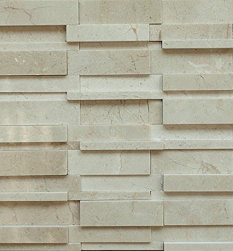 - Crema Marfil Random Pattern Stone Tile Mosaics for Bathroom and Kitchen Walls Kitchen Backsplashes (Free Shipping)