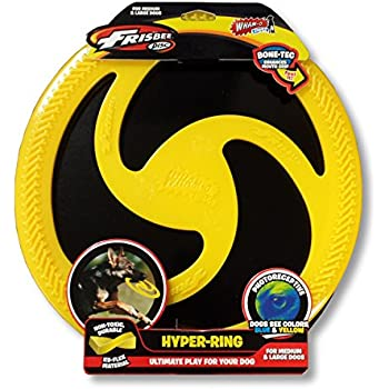 "Wham-O Pets Hyper Ring Dog Frisbee, 10.25"", Yellow"