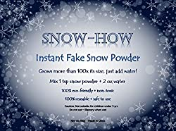 UrbanLeads Instant Fake Snow Powder - 4+ Gallons - Best for Parties, Weddings, Winter Decorations and Birthdays, Cloud Slime and Science Kits