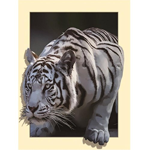 - Yeefant 3D White TIger Modern Art Embroidery Paintings No Fading 5D Canvas Rhinestone Pasted Pasted DIY Diamond Cross Stitch Home Wall Decor for Bedroom Living Room,18x14 Inch,Multicolor A