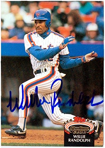 Willie Randolph autographed baseball card (New York Mets) 1992 Topps Total #890 (Autographed Baseball Willie Randolph)