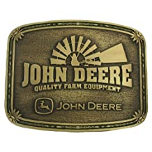 Montana Silversmiths John Deere Windmill Brass Heritage Attitude Belt Buckle
