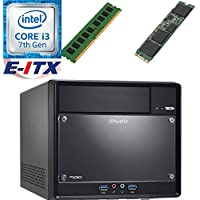 Shuttle SH110R4 Intel Core i3-7100 (Kaby Lake) XPC Cube System , 4GB DDR4, 120GB M.2 SSD, DVD RW, WiFi, Bluetooth, Pre-Assembled and Tested by E-ITX