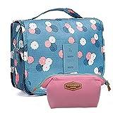 2 PCS Toiletry Bag Multifunction Cosmetic Bag Portable Makeup Pouch Waterproof Travel Hanging Organizer Bag for Women Girls (H001)