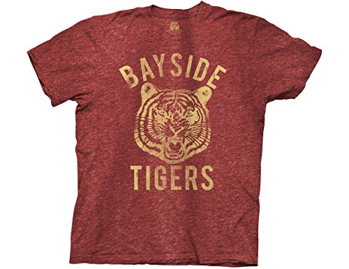 Ripple Junction Saved by The Bell Bayside Tigers Adult T-Shirt Large Red (Screech Saved By The Bell)