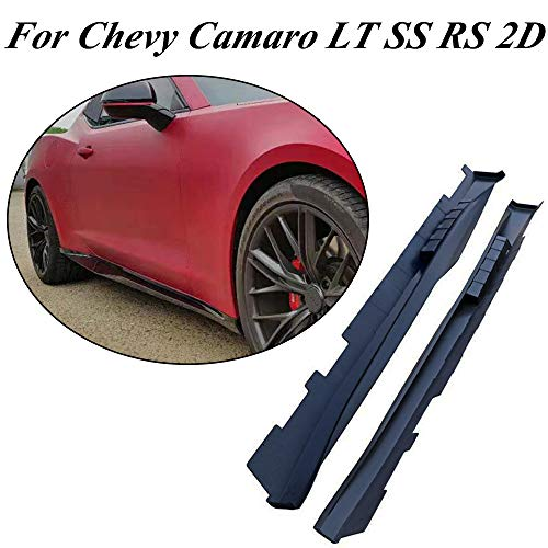 jcsportline fits for Chevy Camaro LT SS RS 2D Primer PP Side Skirt Extensions Rocker Panel Door Protector 2016-2018 ZL1 Style (Door Rs Panels)