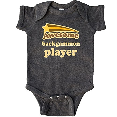 inktastic - Backgammon Player Infant Creeper Newborn Retro Heather Smoke 205e4 ()