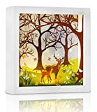 Night Light for Kids, Marmelada Lights, 3D Story in a Frame Series Forest Deer, LED Bedside Kids, Baby, Children Night Lamp Bookshelf, Tabletop, or Wall Hanging, Battery operated 2 months runtime.