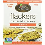 Doctor In The Kitchen Flackers Flax Seed Crackers, Savory, 5-Ounce by Doctor in the Kitchen [Foods]