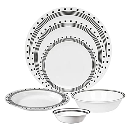 Amazon.com   Corelle Livingware City Block 76-pc Set: Dinnerware ...