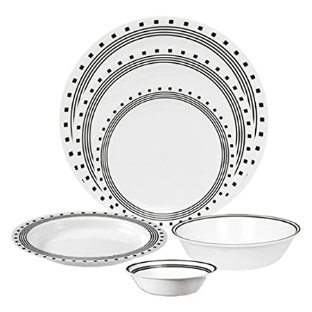 Amusing Corelle Livingware 76 Piece Dinnerware Set City Block  sc 1 st  tagranks.com & Amusing Corelle Livingware 76 Piece Dinnerware Set City Block ...
