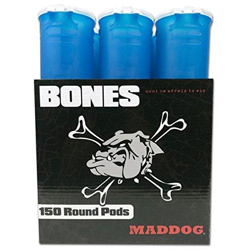 MAddog MD-2240-POD-AQUA-6 150 Round Bones Paintball Pods, Aqua (150 Round Pod)