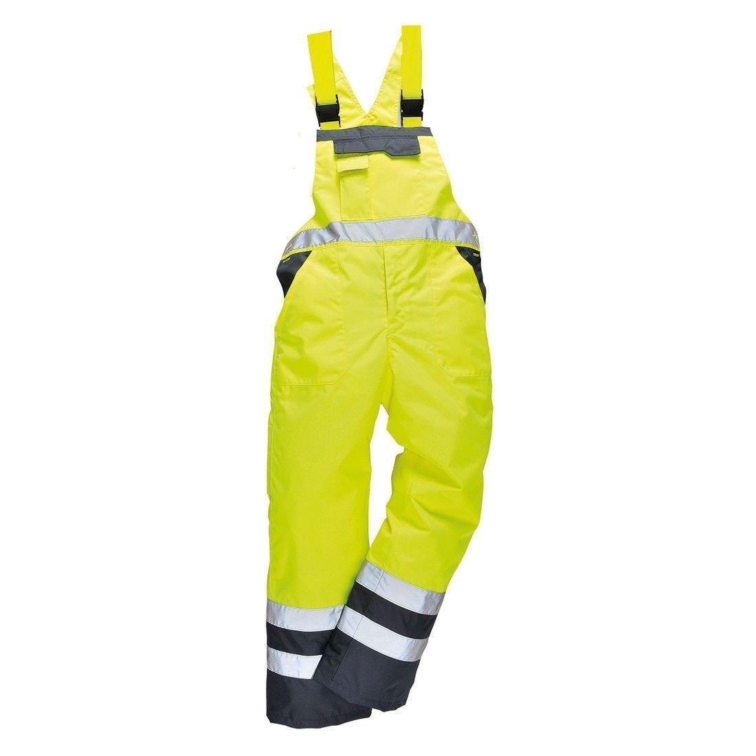 Stormway® Men's Hi VIS Contrast Bib and Brace Waterproof Workwear Ulined Dungarees Overall SW-4880.