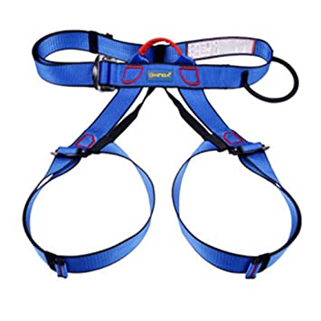Arnés de seguridad para escalada al aire libre, color negro azul ...