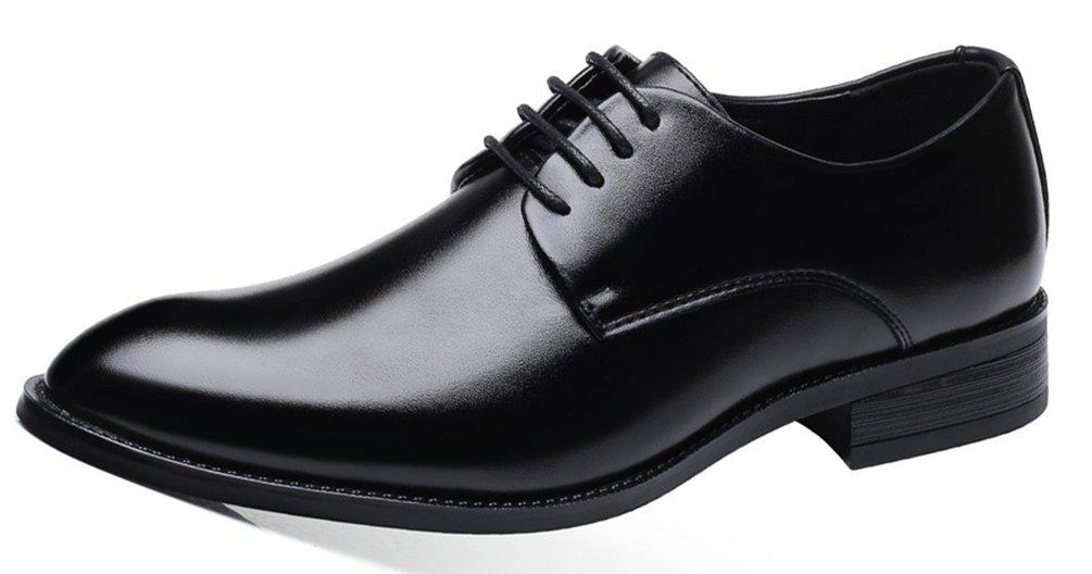 SHOWHOW Herren Offiziell Derby Schnürhalbschuhe Anzugschuhe Schwarz 45 EU dJULAwVHOl