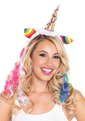 Unicorn Horn Costume Headband (Leg Avenue Costumes Rainbow Unicorn Headband, Multicolor, One Size)