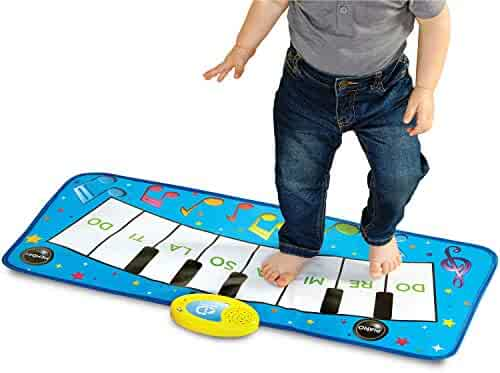 Discovery Kids Play Piano Keyboard Music Mat with Built-in Children's Songs & Memory Playback