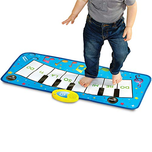 Discovery Kids Play Piano Keyboard Music Mat w/ Built-in Children's Songs and Memory Playback, Fold Up/Rollup Floor Mat w/ Oversized Keys for Hands, Feet, and Dancing; Interactive & Educational - Discovery Mat Play